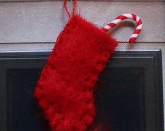 Tiny dolls house Christmas felt stocking