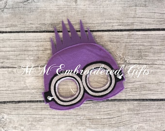 Pretend Play Purple Minion Inspired Mask