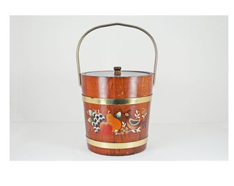 Vintage Wooden Ice Bucket made by Lane Mfg