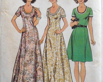 Simplicity 5967 - Princess Seam Look Slimmer Dress or Maxi Dress Sewing Pattern - Size 14, Bust 36 - Uncut