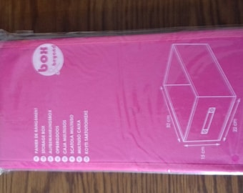 Pink decoration or storage basket