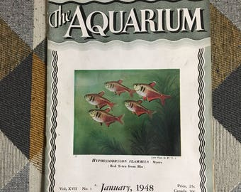 Vintage The Aquarium Magazine Janauary 1948 Fish