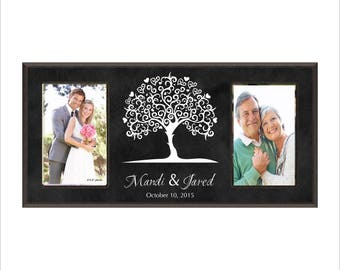 Personalized Wedding Frame, Personalized Double Frame, Great Anniversary Gift, Family Tree