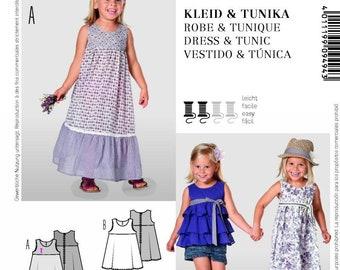 Burda Kids 9494 Size 18 Months - 6 Yrs Children's Girl's Sundress or Tunic Sewing Pattern / Uncut FF