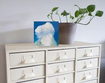 "September Sky IX Original Painting, 8"" x 8"" x 3/4"""