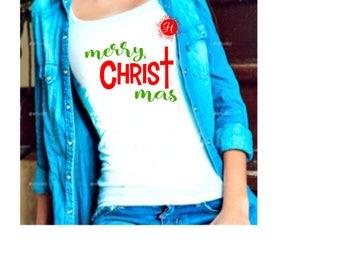 Merry Christ mas Christmas, SVG DFX Cricut cameo  Christmas svg, Jesus svg, Christian svg, Commercial use