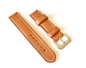 Light brown leather panerai watch strap watch band Vegetable tanned leather watch strap 16mm 18mm 20mm watch band 22mm 24mm watch strap