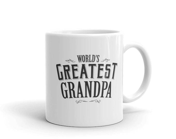 Grandpa Gift Birthday World's Okayest Grandpa Coffee Mug, grandpa mug, grandpa mug 2018, grandpa gift, gift for grandpa, grandfather mug
