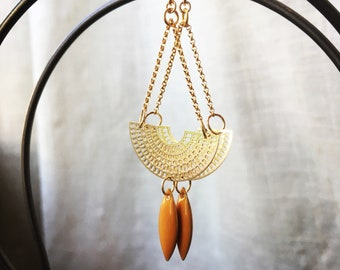 Earrings AIWA trendy Aztec fuchia