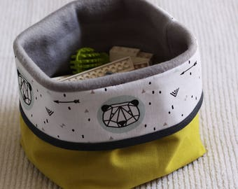 The reversible storage basket. You choose the look and size!