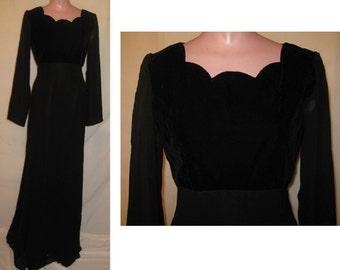 Plain black gown #33