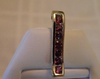 Exquisite 14K Gold Magenta Pink Tourmaline Pendant