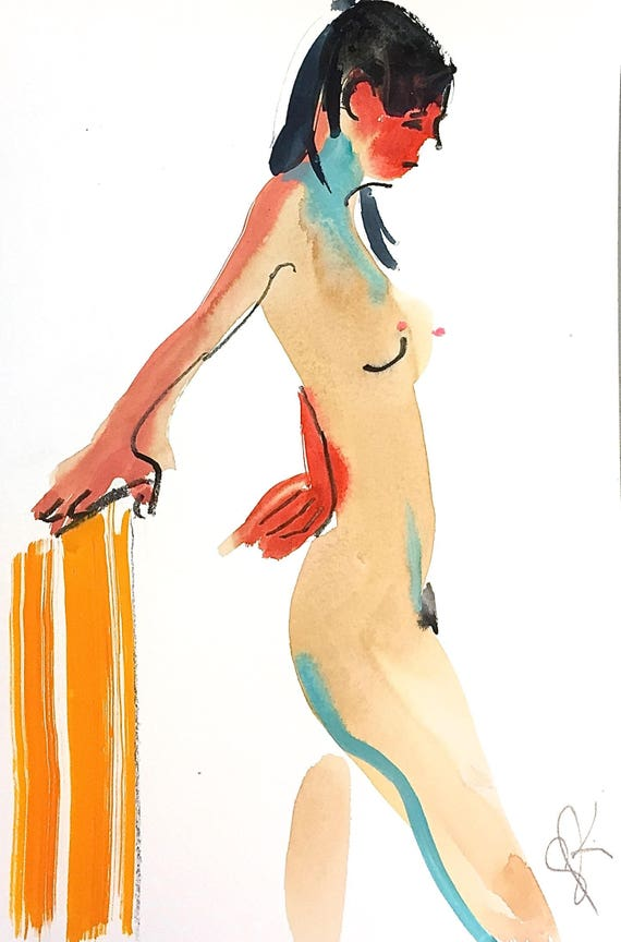 Nude painting- #1473 -original  by Gretchen Kelly