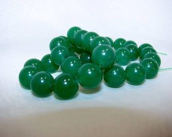 Green aventurine round 12 mm. Semi-precious stones. (2118497)