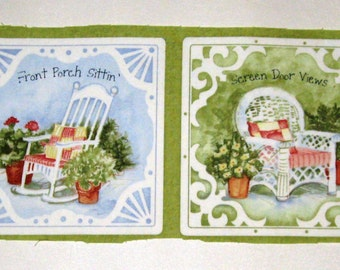 """Pillow Panels """"Sweet Tea Sippin'"""" in Green"""