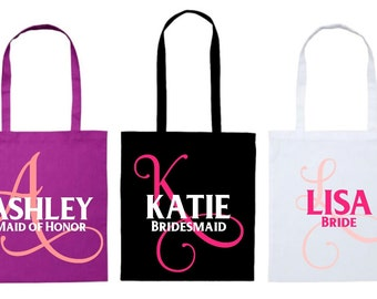 Personalised Cotton Tote Bag - Perfect for Bridal Parties, Weddings, Birthdays, Gift, Goodie Bag - Unique. NZ
