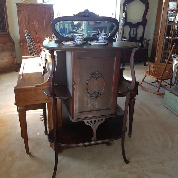 - Art Nouveau Antique Music Cabinet