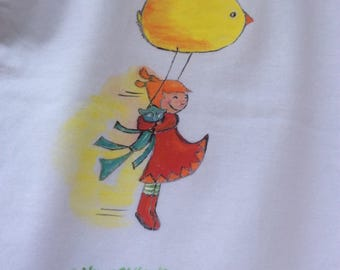 """Air game"" on white t-shirt, size 3 years"