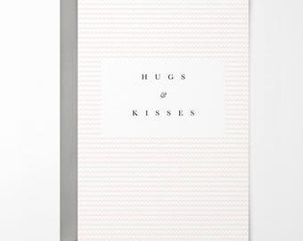 Hugs & Kisses Greetings Card