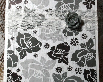 Gray Roses Card for Any Occasion  20170023