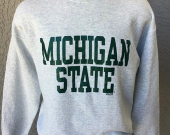 Michigan State University Spartans 1990s vintage sweatshirt - gray size extra large