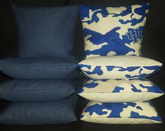 Set Of 8 University of Kentucky Cornhole Bean Bags Top Quality FREE SHIPPING