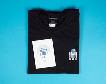 R2D2 Embroidered T-Shirt