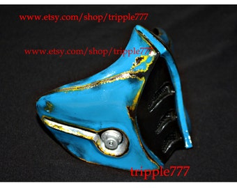 Half cover MORTAL KOMBAT mask, sub zero mask, Airsoft mask, Halloween costume & Cosplay mask, Halloween mask, Steampunk mask, MA147 et