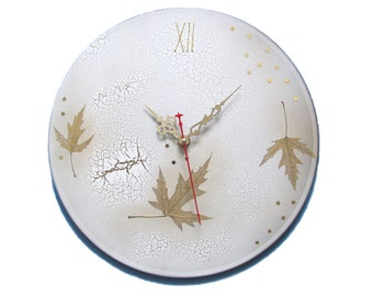 Art clock unique wall clock modern clock large wall clock shabby chic wall décor Christmas gift cottage chic unique wall hanging fall décor