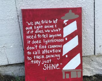 lighthouse quote painting