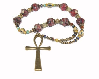 Ankh Meditation Beads, Hand-Held Meditation Aid for Men or Women