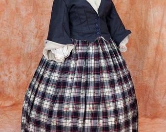 Victorian Crinoline  Civil War  Dress with , Custom Sized