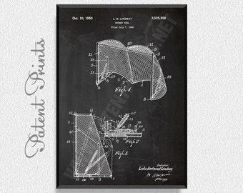 Hockey Goal 1950 Patent Print, Hockey Poster, Sports Poster, Hockey Blueprint, Hockey Print, Sports Print