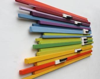 Music Art | 'Keys in Colour' | Wood Art | Piano | Wall Art | Wood Sculpture | Abstract Art |