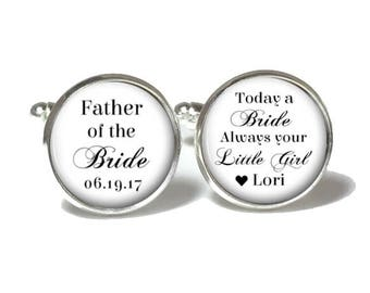 Father of the Bride Cufflinks | Wedding Cufflinks | Father of the Bride Gift | Style 733