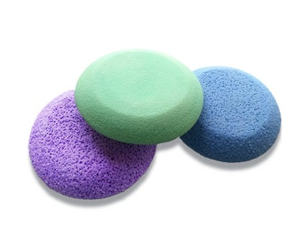 Set of 3 Pro-Sponges for Pottery, Elephant Sponge, Scrubbies, Stoneware Clay-Porcelain Clay-Finishing of clay, Sponge for Wheel Throwing