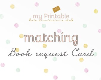 Matching Book request card for your Invite