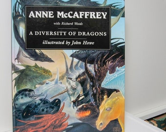 """Illustrated Childrens Book """"A Diversity of Dragons"""" 1997 First Edition American Adventure Tales Knights Castles Legends Swords Bedtime Story"""