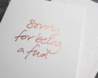 Sorry For Being A Fud - Miss You, Sorry, Love, Friendship, I'm Sorry Postcard