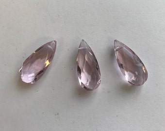 2pcs/5pcs/10pcs crystal faceted flat teardrop beads---22mmx10mmx7mm