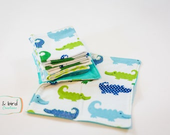 RTS Alligator Flannel Coth Wipes