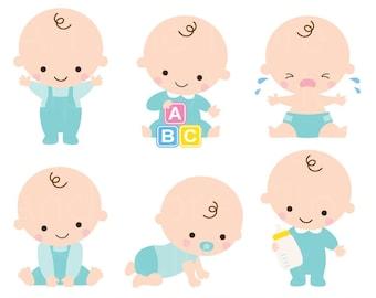 baby shower clipart clip art baby boy girl clipart cute baby rh etsy com cute baby clipart animals cute baby clipart border