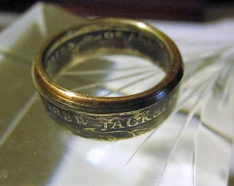 US Coin Ring Andrew Jackson