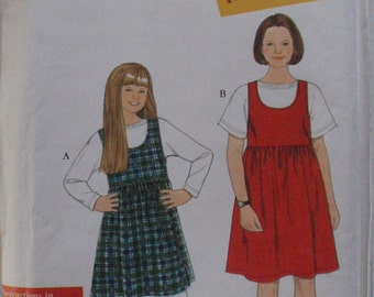 Girl's Jumper and Knit Top Easy Sewing Pattern - Simplicity 7323 - Sizes 7-8-10-12-14, Breast 26 - 32, Uncut