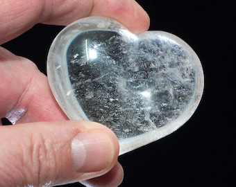 Mountain Crystal Heart, No. 9, approx. 110 grams, 61 mm