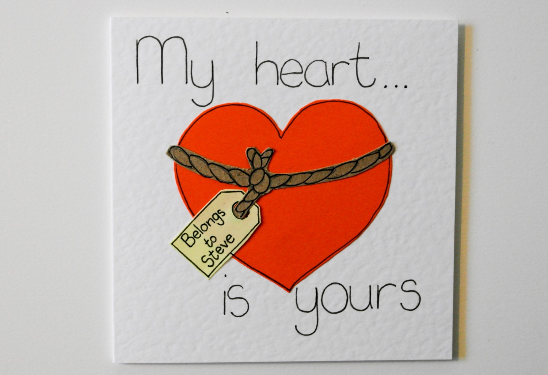 Valentine handmade greeting card funny valentine zoom bookmarktalkfo Choice Image