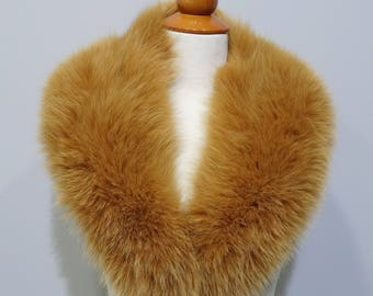 Real Fox Fur Orange Collar F778