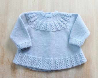 Brassière bébé Explications tricot en Anglais PDF Téléchargement immédiat Taille Naissance / 3 mois