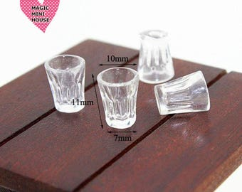 Dolls House Miniature Glass- 4pcs