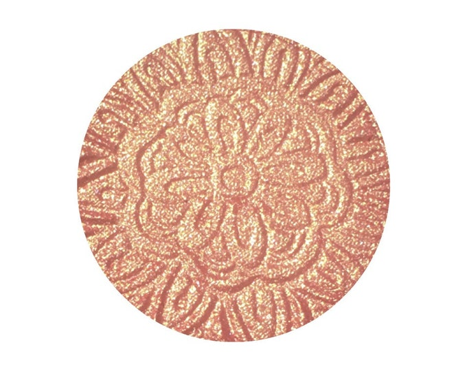 SWEET HEAT - Pressed Highlighter / Blush Topper - Pink / Coral / Peach with Gold Sparkles